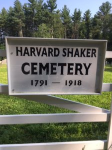 Harvard Shaker Cemetery Sign